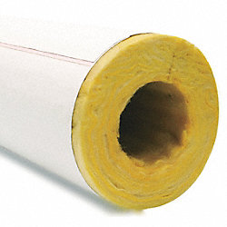 Pipe Insulation, Fiberglass, 1.68 In ID