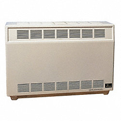 Gas Fired Room Heater, 20 In. D, NG
