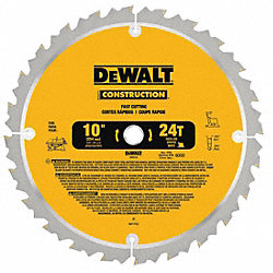 Circular Saw Bld, Crbde, 10 In, 24 Teeth