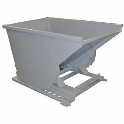 Self Dumping Hopper, Medium Duty, Gray