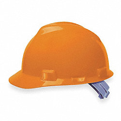 Hard Hat, FrtBrim, Slotted, PinLk, Orange