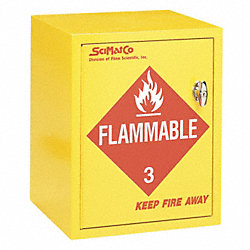 Flammable Cabinet, 4X1 Gal. Bottles, YLW