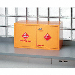 Flammable Cabinet, 8X1 Gal. Bottles, YLW