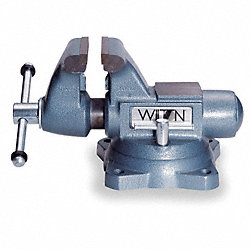 Vise, Heavy Duty, 6 1/2 In, 6 1/2 In Open