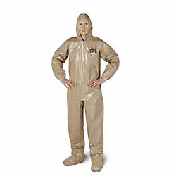 Hooded Tychem(R) CPF 3, Tan, Socks, XLPK 6