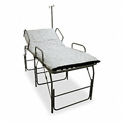 Medical Field Cot with IV Pole, Blue