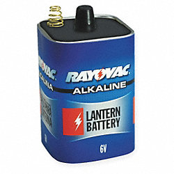Lantern Battery, Alkaline, 6V, Spring Term