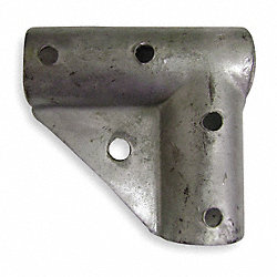 Gate Corner, Galv. Steel, Fits 1-5/8 In.