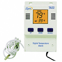 Temperature Alarm with Display, Digital