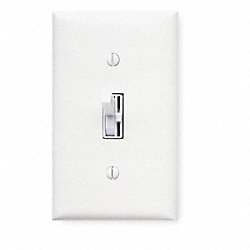 Dimmer, Toggle/Slide, 120V, 600W, 1 Pole