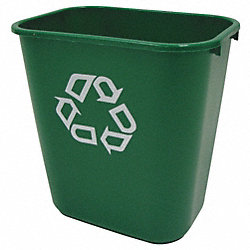 Recycling Container, 28 1/8 Qt, Green