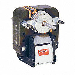 C-Frame Motor, Auto, Shaded Pole, 1 In. L