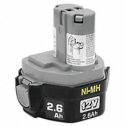 Battery Pack, 12V, NiMH, 2.6A/hr.