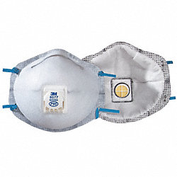 Disposable Respirator, P95, OV, PK 10
