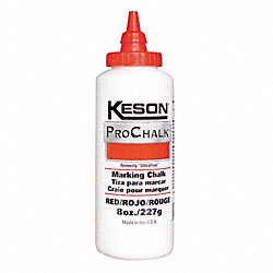 Marking Chalk Refill, Red, 8 Oz
