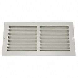 Return Air Grille, 8x14 In, White