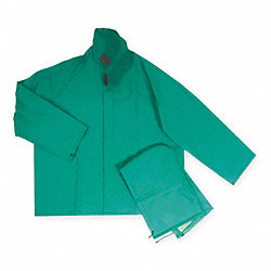 Rain Jacket with Detach Hood, Green, XL