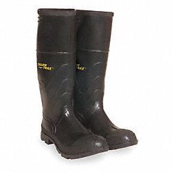 Knee Boots, Men, 8, Steel Toe, Blk, 1PR
