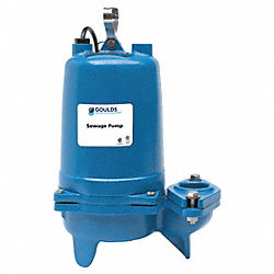 Sewage Pump, 1/2 HP 3PH 200 V
