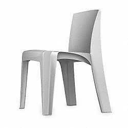 Stackable Chair, Blue Gray