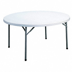 Folding Table, Round Poly, 48 In