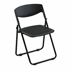 Folding Chair, Mesh Seat, Black