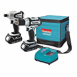 Cordless Combination Kit, 1.5A/hr., 18.0V