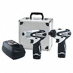 Cordless Combination Kit, 1.3A/hr., Li-Ion