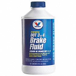 Brake Fluid, 12 Oz, Dot 3 and 4