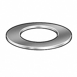 Silicone Washer, 1/4 In, 5/8 OD, Pk50