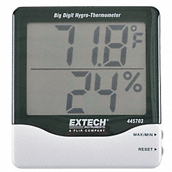 Indoor Digital Hygrometer, 14 to 140 F