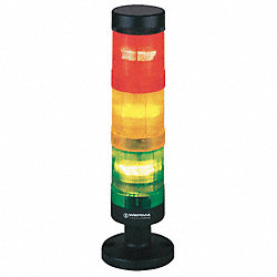 Tower Light, 24VAC, Amber, Blue, Red