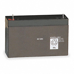Battery, Lead Calcium, 6V, 10A/HR.
