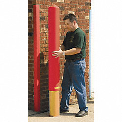 Post Sleeve, Smooth, H57In, OD9.375In, Red