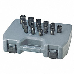 Impact Socket Set, 1/2 Dr, 6 Pt, 14 Pc