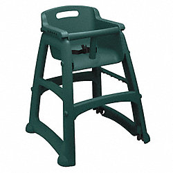 Youth High Chair, Dark Green