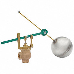 Float Valve Assembly, Single, Size 3/4 In.