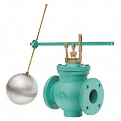 Float Valve Assembly, Single, Size 4 In.