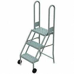 Rolling Ladder, Hndrl, Platfm 30 In H
