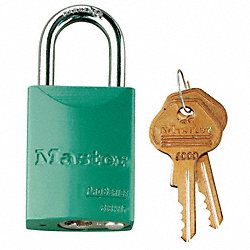 Lockout Padlock, KD, Hi-Vis Green, 1/4In.