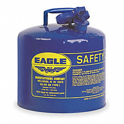 Type I Safety Can, 5 gal, Blue, 13-1/2In H