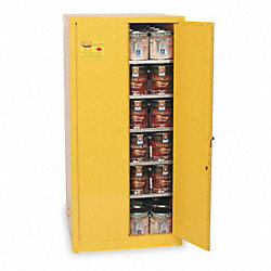 Paints and Inks Cabinet, 96 Gal., Yellow