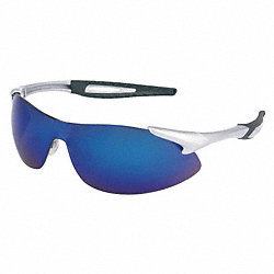 Safety Glasses, Blue Mirror Lens, PR
