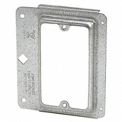 Mounting Bracket, 1Gang, Metal/Wood Studs