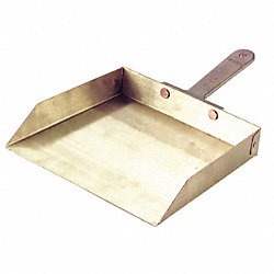 Hand Held Dust Pan, Aluminum, Silver