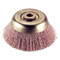 Crimp Wire Cup Brush, 3In, 5/8-11