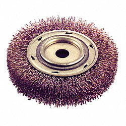 Crimp Wire Wheel Brush, 6x5/8