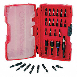 Impact Driver Set, Bits, Holder, 29 Pc