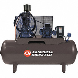 Air Compressor, 7.5HP, 80G, 175 PSI, 24.3CFM