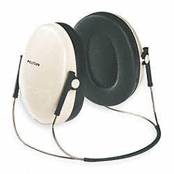 Ear Muff, 21dB, Behind-the-Head, Bk/Beige